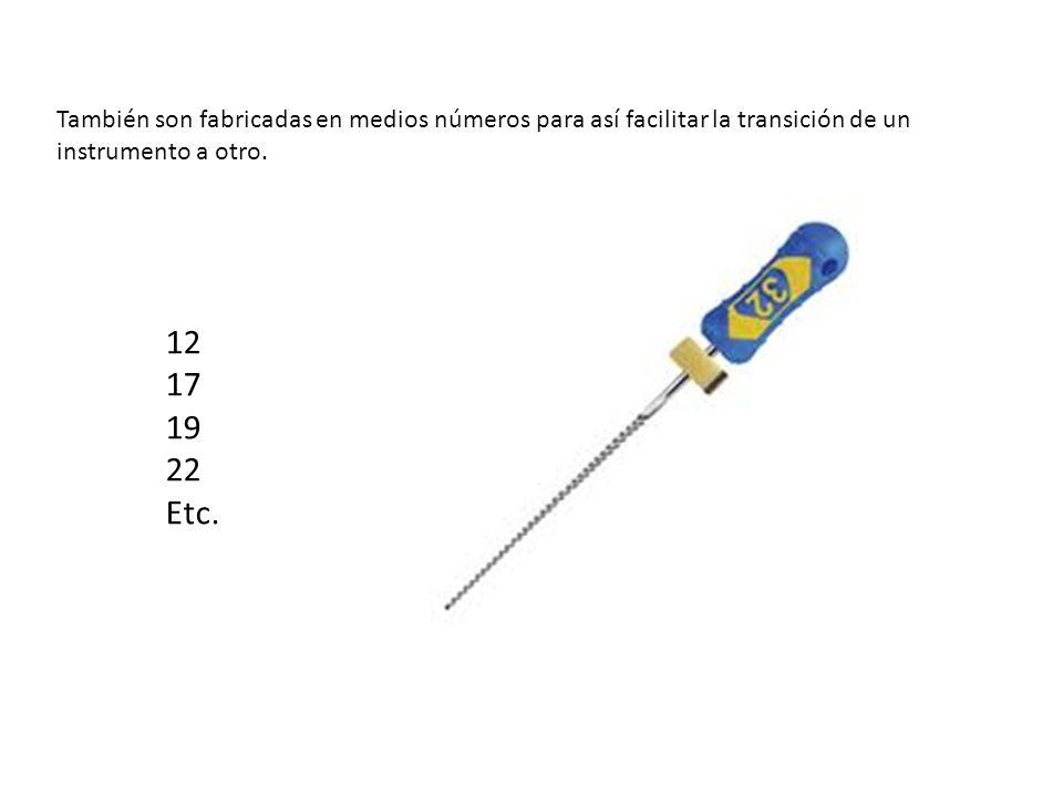 También son fabricadas en medios números para así facilitar la transición de un instrumento a otro.