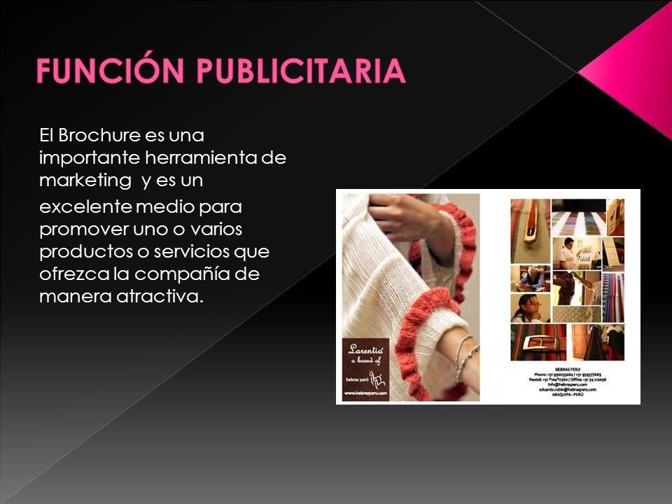 El Brochure es una importante herramienta de marketing y es un excelente medio para promover uno o varios productos o servicios que ofrezca la compañí