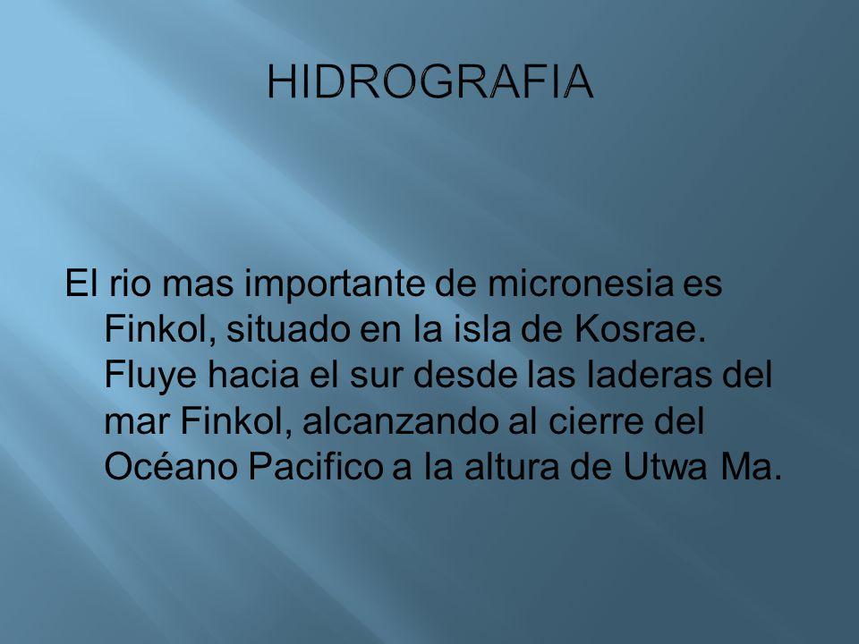 El rio mas importante de micronesia es Finkol, situado en la isla de Kosrae. Fluye hacia el sur desde las laderas del mar Finkol, alcanzando al cierre