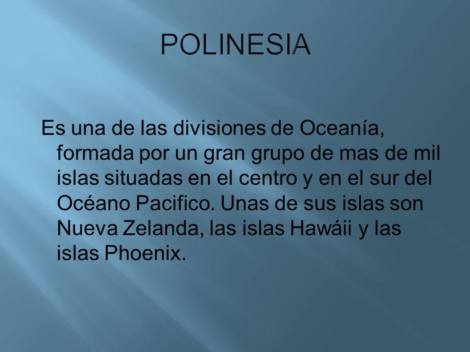 Es una de las divisiones de Oceanía, formada por un gran grupo de mas de mil islas situadas en el centro y en el sur del Océano Pacifico. Unas de sus