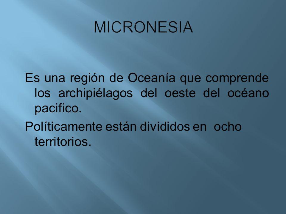Es una región de Oceanía que comprende los archipiélagos del oeste del océano pacifico. Políticamente están divididos en ocho territorios.