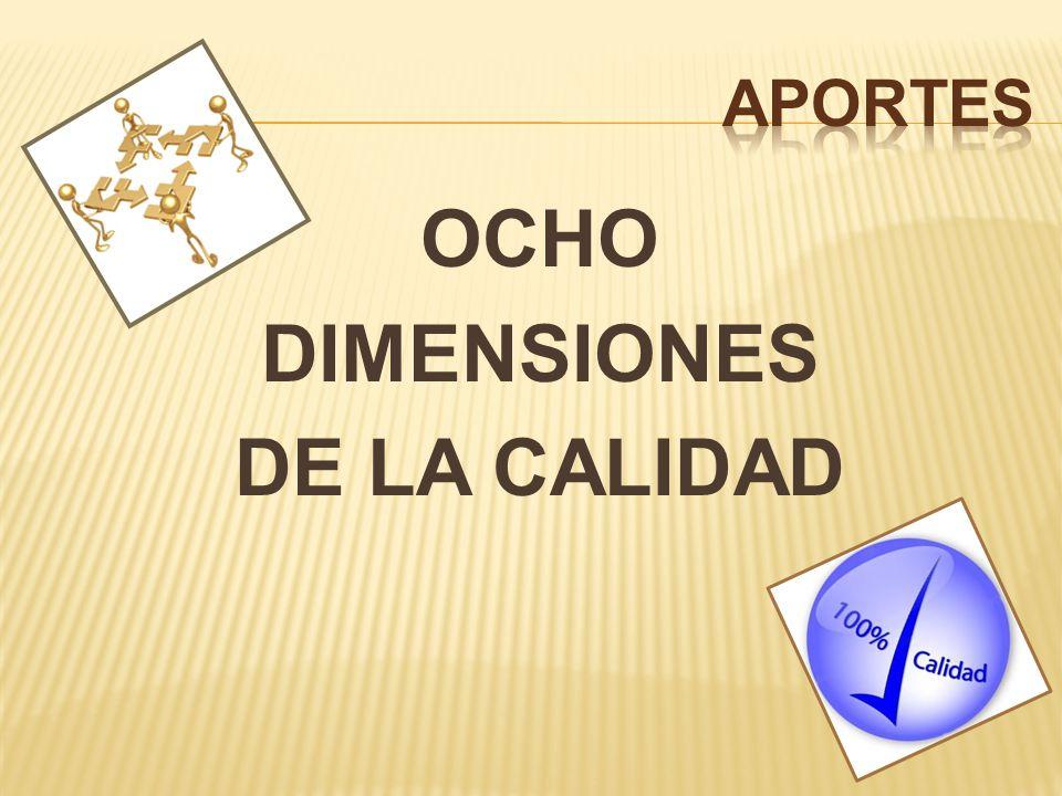 OCHO DIMENSIONES DE LA CALIDAD