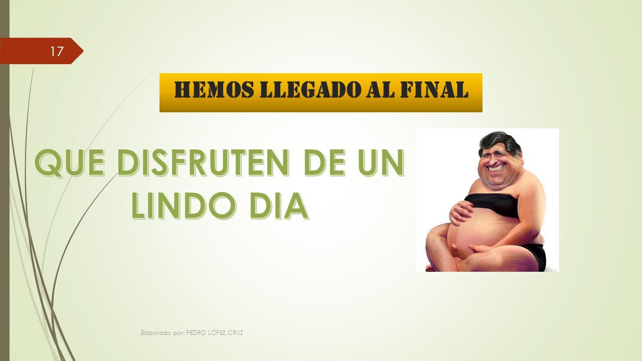 HEMOS LLEGADO AL FINAL Elaborado por: PEDRO LÓPEZ CRUZ 17