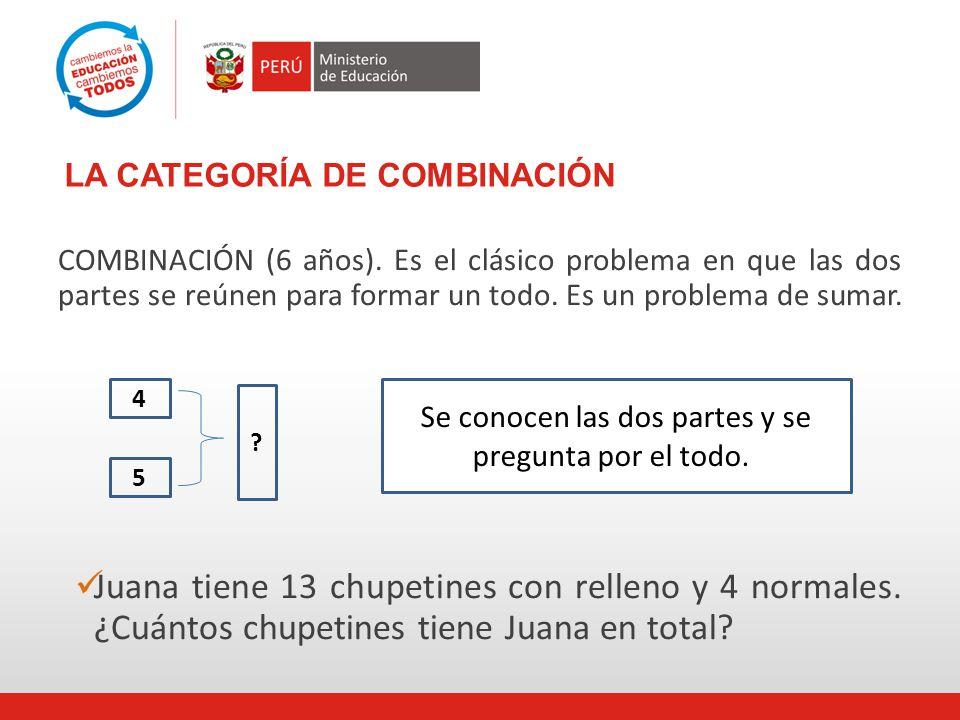LA CATEGORÍA DE COMBINACIÓN COMBINACIÓN (6 años).