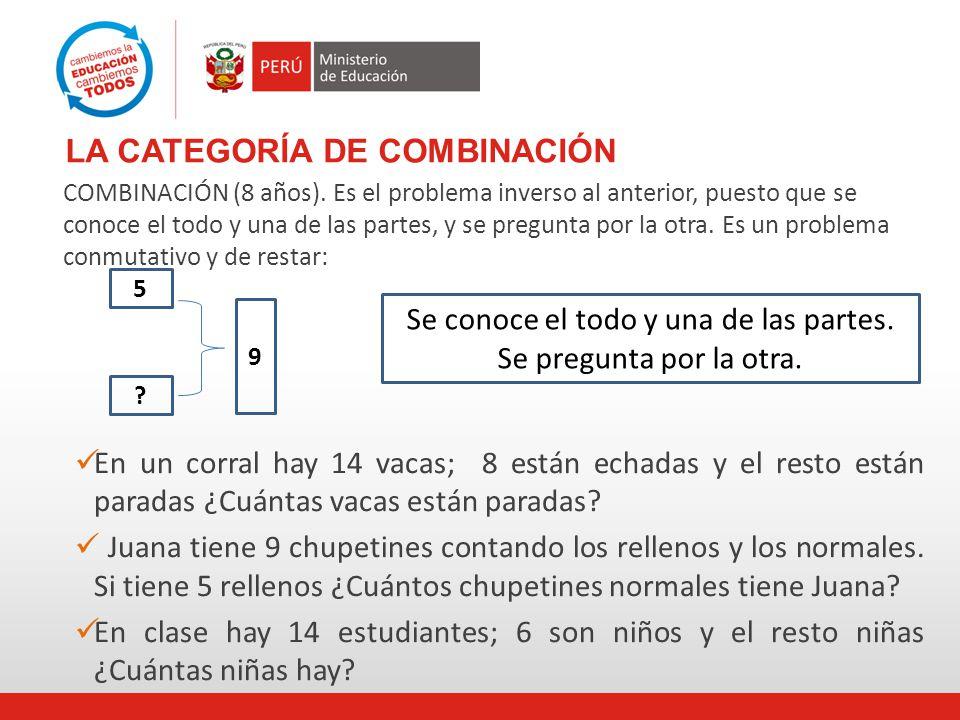 LA CATEGORÍA DE COMBINACIÓN COMBINACIÓN (8 años).