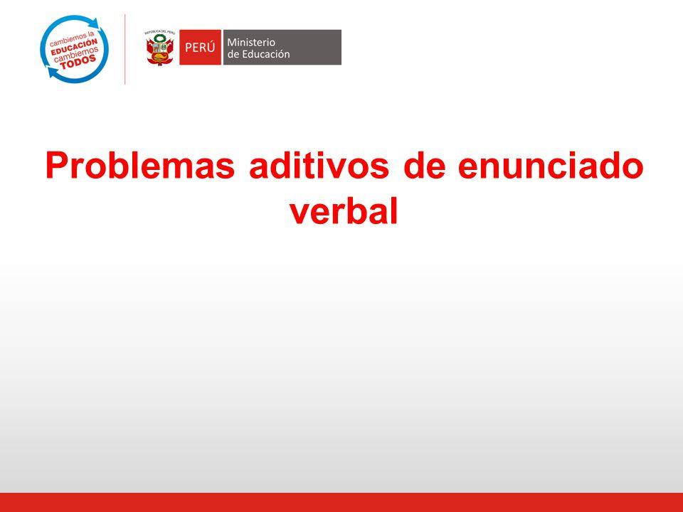 Problemas aditivos de enunciado verbal