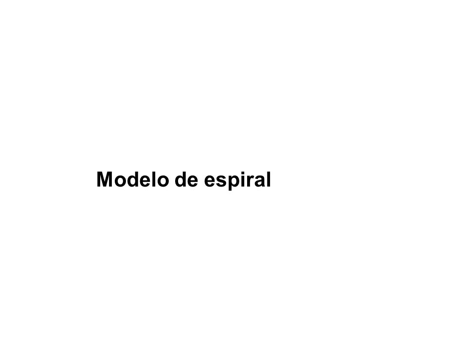 El modelo espiral propuesto originalmente por Boehm en 1988, es un modelo de proceso de software evolutivo ha sido desarrollado para cubrir las mejores características tanto del ciclo de vida clásico, como de la creación de prototipos, añadiendo al mismo tiempo un nuevo elemento: el análisis de riesgo