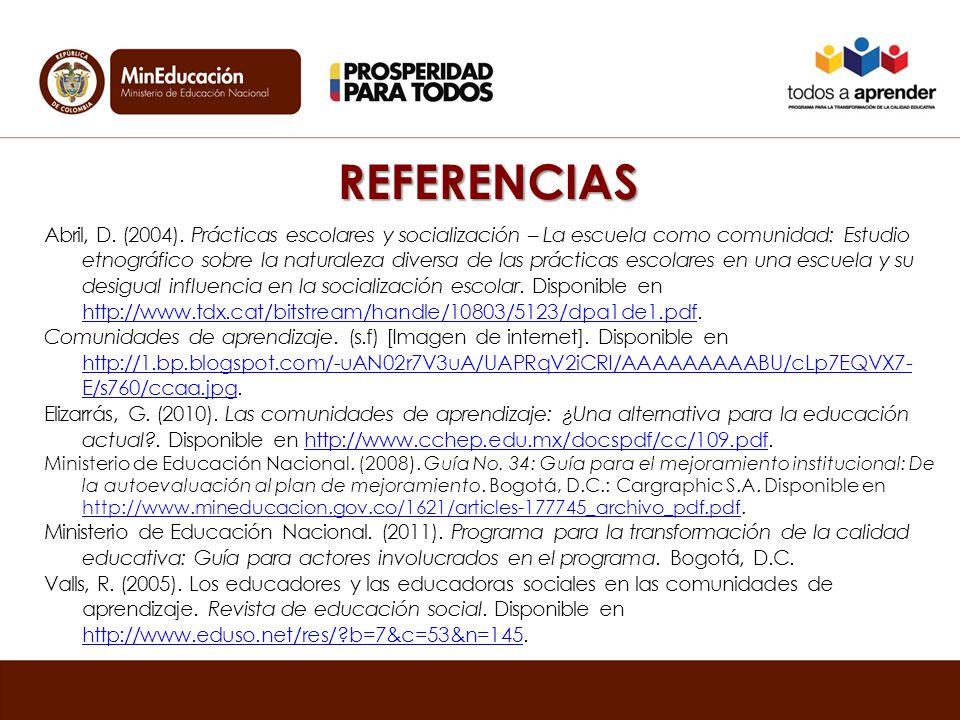 REFERENCIAS Abril, D.(2004).