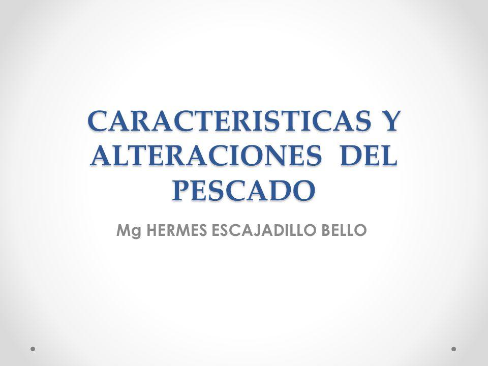 CARACTERISTICAS Y ALTERACIONES DEL PESCADO Mg HERMES ESCAJADILLO BELLO