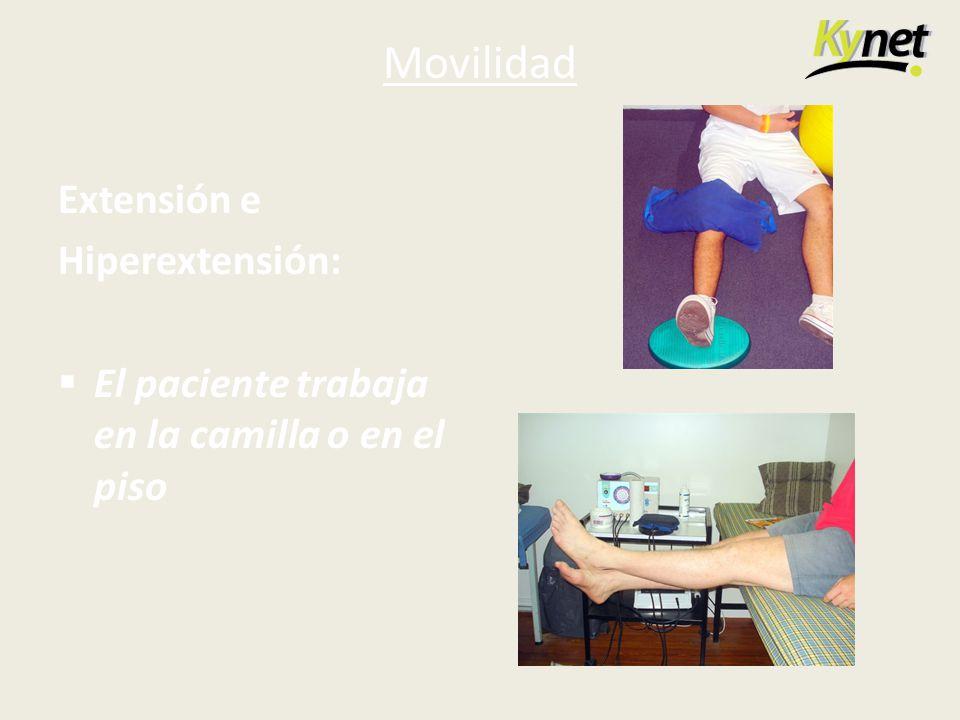 Movilidad Extensión e Hiperextensión: El paciente trabaja en la camilla o en el piso
