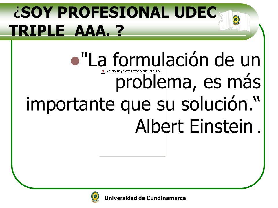 Universidad de Cundinamarca ¿SOY PROFESIONAL UDEC TRIPLE AAA. ?