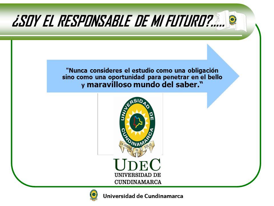 Universidad de Cundinamarca ¿SOY EL RESPONSABLE DE MI FUTURO?…..