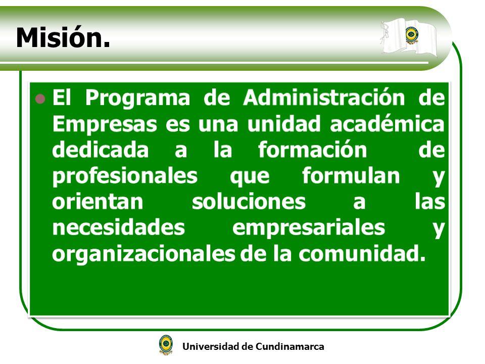Universidad de Cundinamarca Misión.