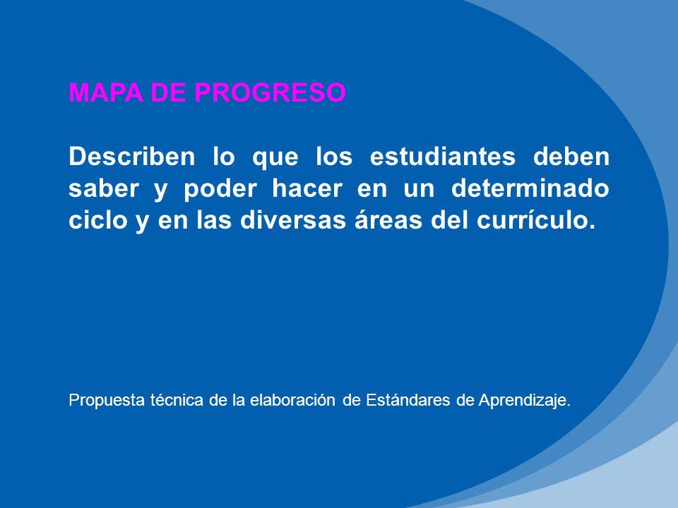 Propuesta técnica de la elaboración de Estándares de Aprendizaje.