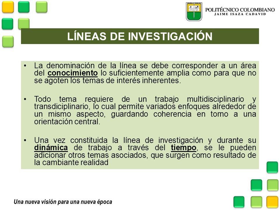 LINEAS DE INVESTIGACIÓN LM.Ciencias Aplicadas a la Actividad Física y el Deporte.
