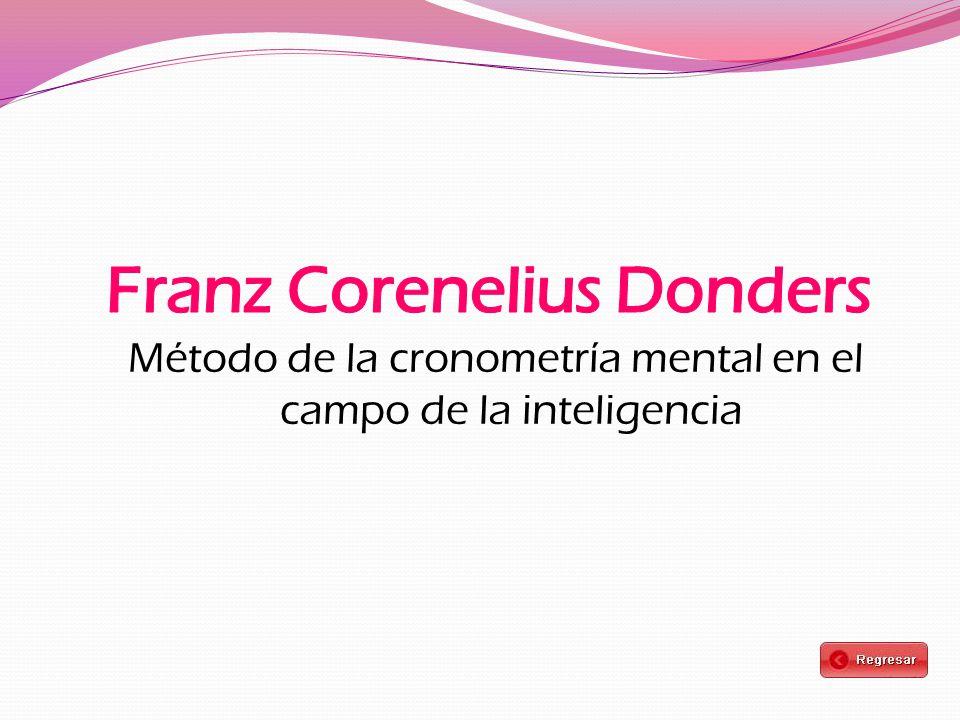 Método de la cronometría mental en el campo de la inteligencia