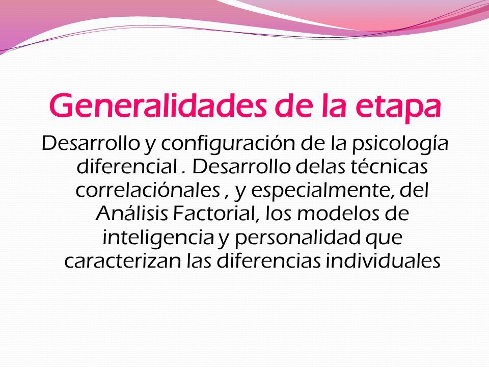 Desarrollo y configuración de la psicología diferencial.