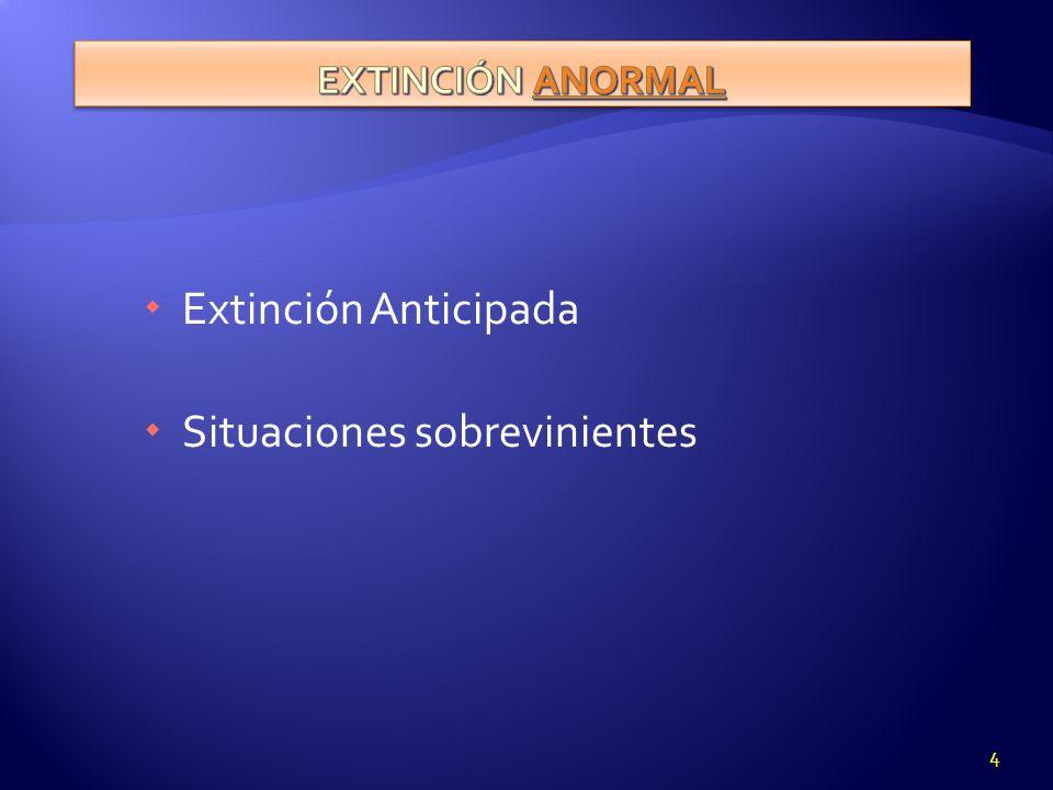 Extinción Anticipada Situaciones sobrevinientes 4