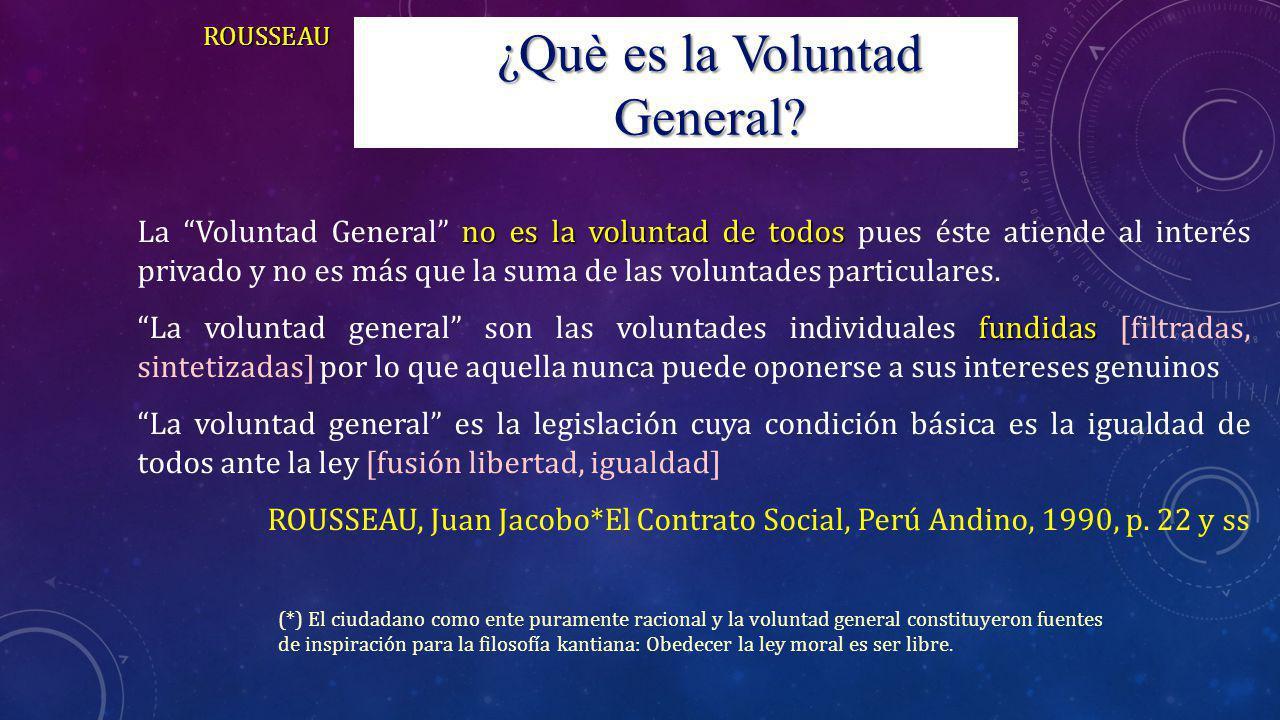 no es la voluntad de todos La Voluntad General no es la voluntad de todos pues éste atiende al interés privado y no es más que la suma de las voluntad