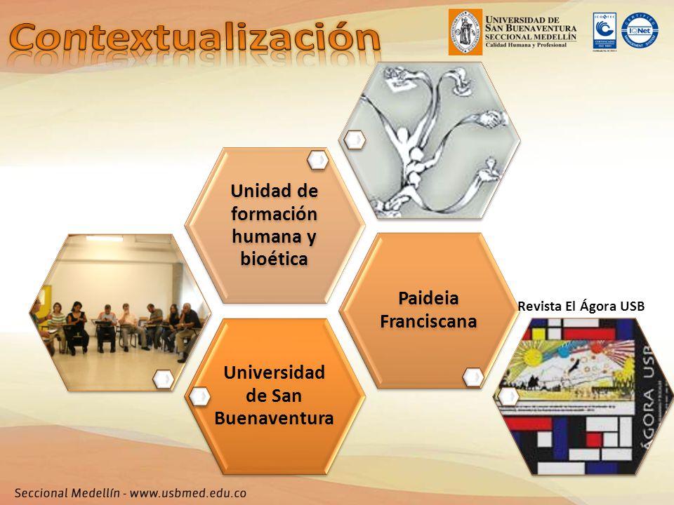 Universidad de San Buenaventura Paideia Franciscana Unidad de formación humana y bioética Revista El Ágora USB