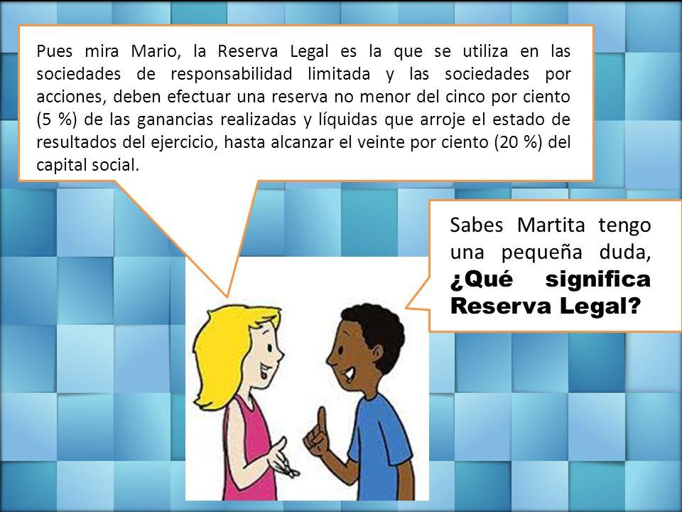 Sabes Martita tengo una pequeña duda, ¿Qué significa Reserva Legal.