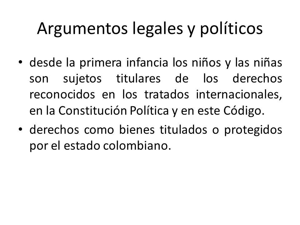 Argumentos legales y políticos desde la primera infancia los niños y las niñas son sujetos titulares de los derechos reconocidos en los tratados inter