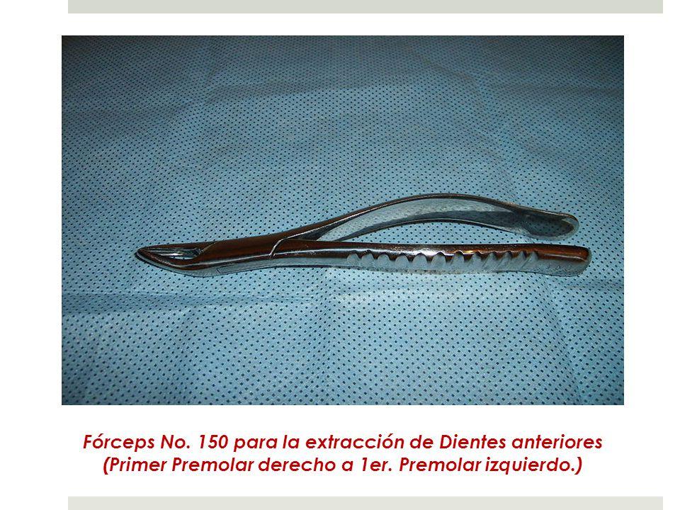 Fórceps No.150 para la extracción de Dientes anteriores (Primer Premolar derecho a 1er.