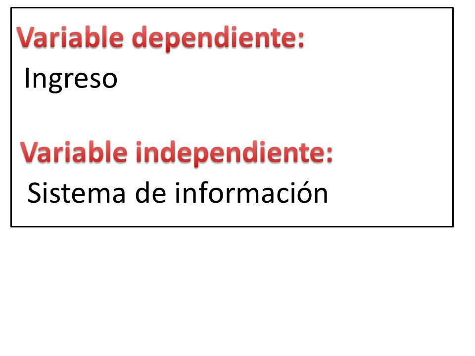 Ingreso Sistema de información