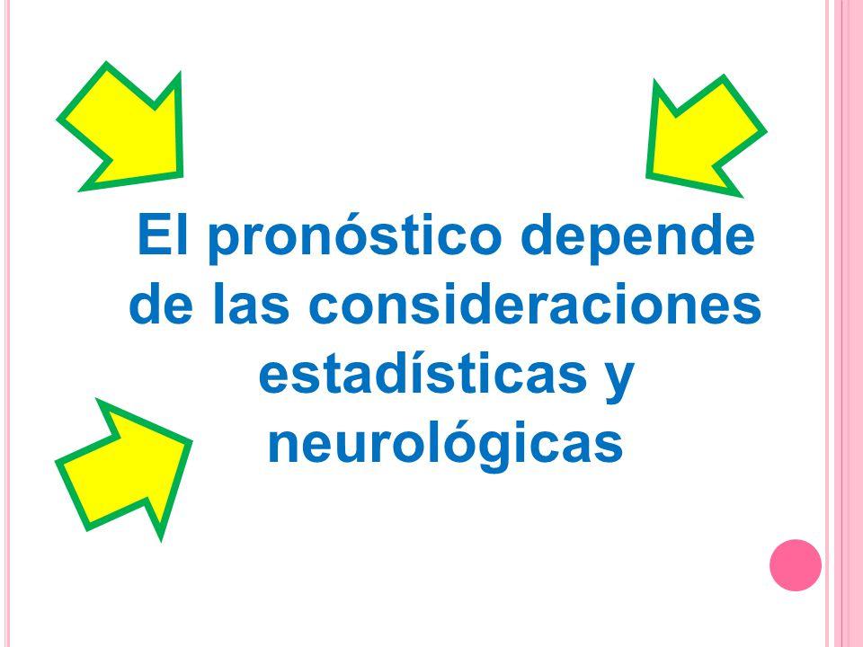 El pronóstico depende de las consideraciones estadísticas y neurológicas