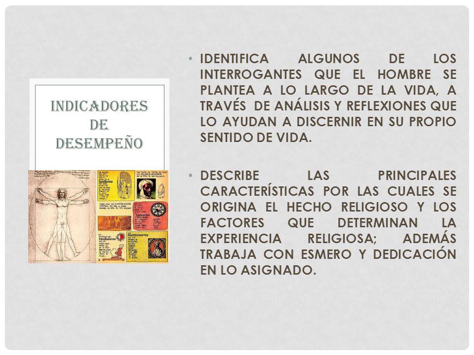 IDENTIFICA ALGUNOS DE LOS INTERROGANTES QUE EL HOMBRE SE PLANTEA A LO LARGO DE LA VIDA, A TRAVÉS DE ANÁLISIS Y REFLEXIONES QUE LO AYUDAN A DISCERNIR E