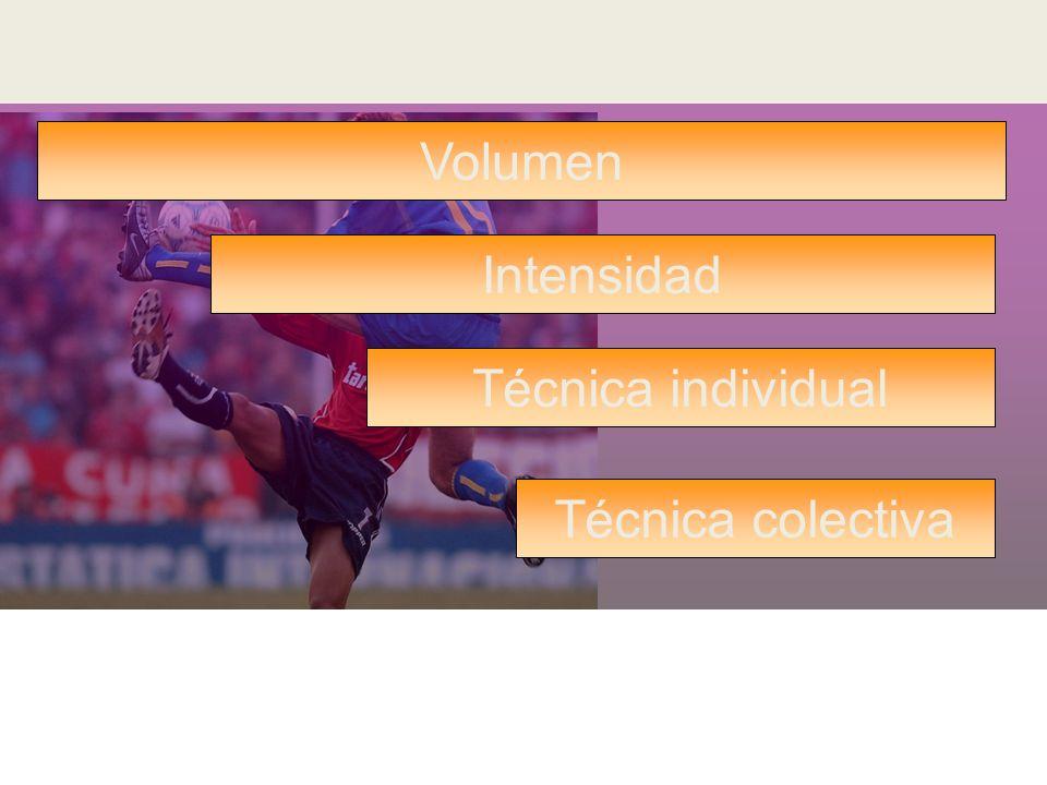 Combinación de los objetivos adaptativos en lesiones con inestabilidad articular Volumen Intensidad Técnica individual Técnica colectiva