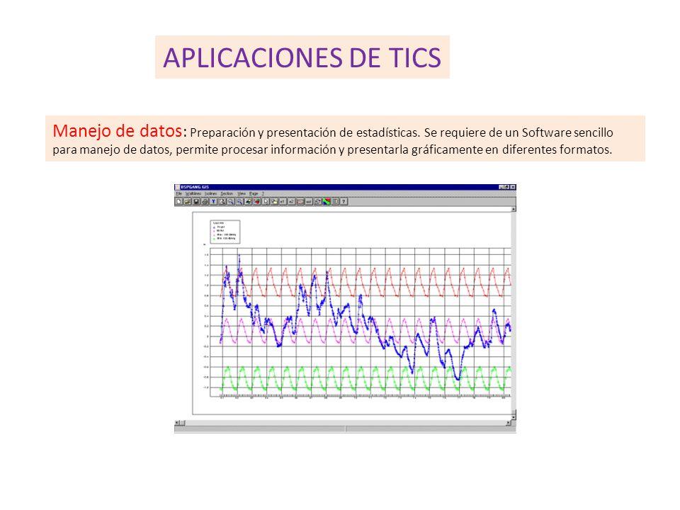 Manejo de datos : Preparación y presentación de estadísticas.