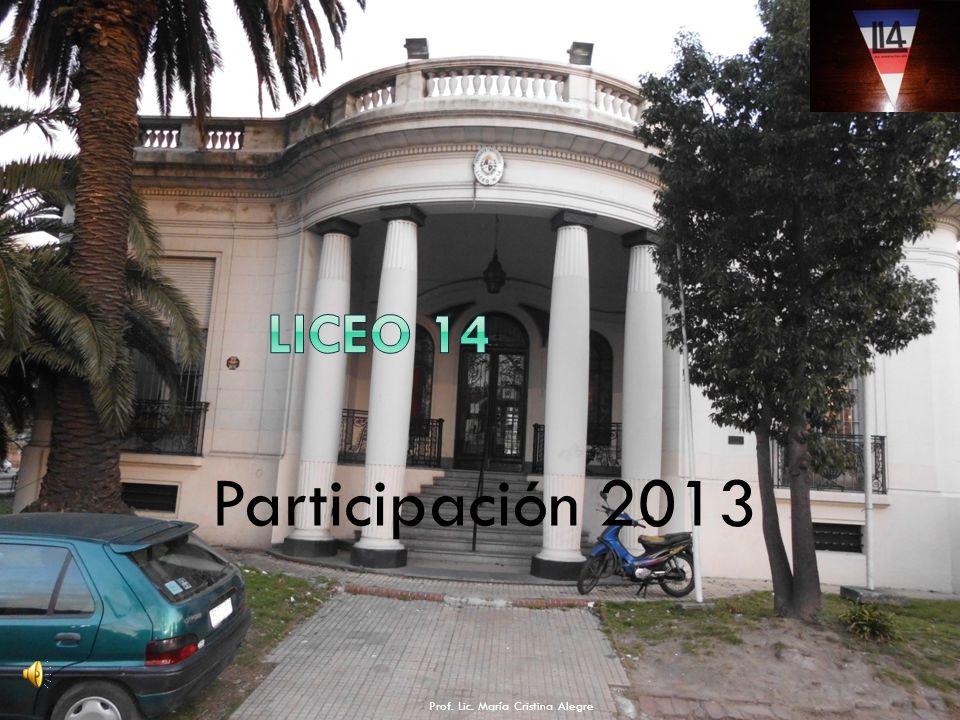 Participación 2013 Prof. Lic. María Cristina Alegre