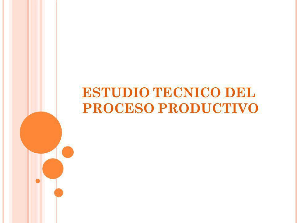ESTUDIO TECNICO El objetivo de este estudio es verificar la posibilidad técnica de la fabricación del producto o la prestación del servicio que pretende realizar con el proyecto.