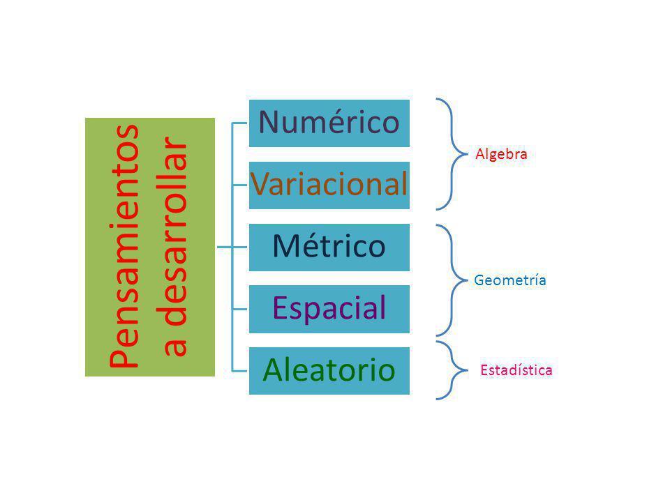 Pensamientos a desarrollar Numérico Variacional Métrico Espacial Aleatorio Algebra Geometría Estadística