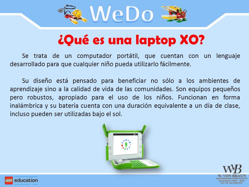 ¿Qué es una laptop XO? Se trata de un computador portátil, que cuentan con un lenguaje desarrollado para que cualquier niño pueda utilizarlo fácilment