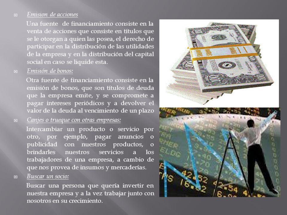 financiamiento acciones: