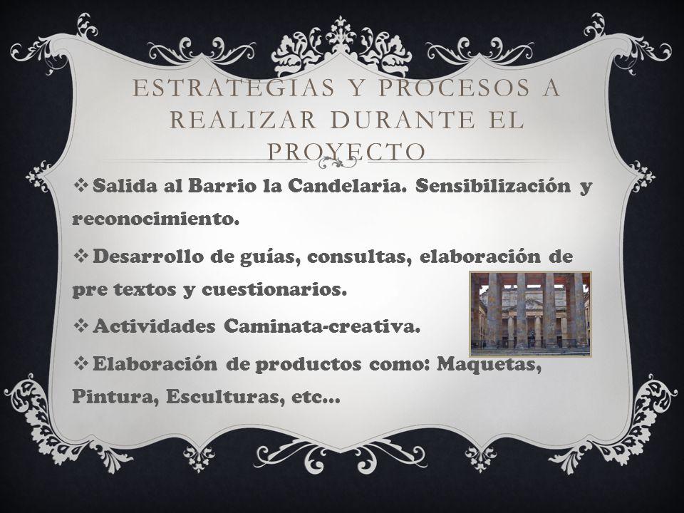 PROCESOS ESPERADOS Concientización del valor infinito de nuestra cultura y de nuestra historia Bogotana.