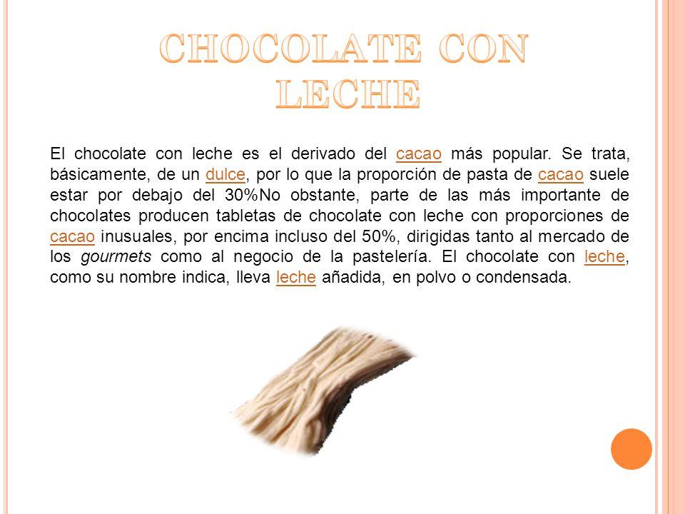 El sabor debe ser básicamente amargo con un punto de acidez y de dulzor, y después pueden haber toques de vainilla, canela, azafrán, etc.saboramargoacidezdulzorvainillacanelaazafrán Aunque para disfrutar de un verdadero chocolate, es necesario manipular en esencia semilla de cacao con margenes equilibrados de azúcar, esto no sucede con el chocolate que se conoce comúnmente.
