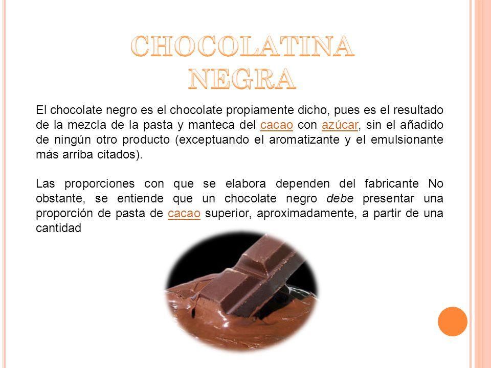 En el caso del chocolate blanco, estrictamente, no se trata de chocolate como tal.