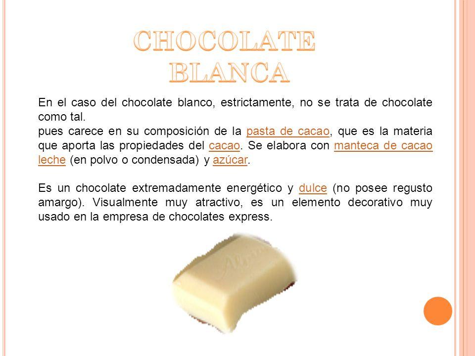 El chocolate de cobertura es el chocolate que utilizan en nuestra empresa y también los pasteleros.