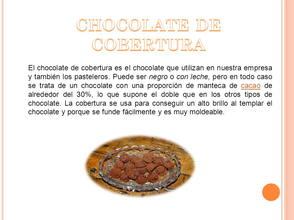 El chocolate con leche es el derivado del cacao más popular.