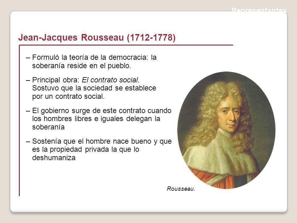 Representantes Jean-Jacques Rousseau (1712-1778) Rousseau.