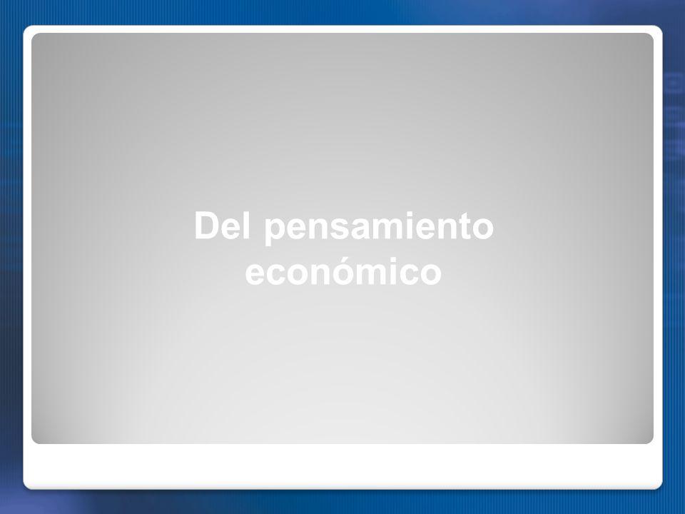 Del pensamiento económico