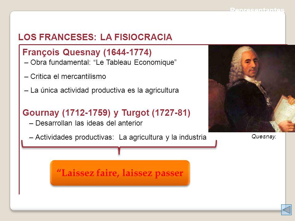 Representantes LOS FRANCESES: LA FISIOCRACIA Quesnay.