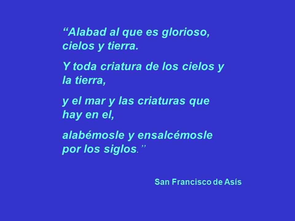 Alabad al que es glorioso, cielos y tierra.