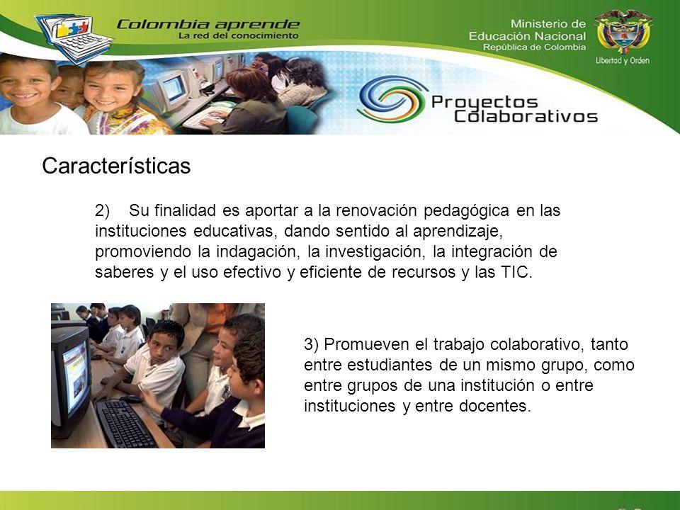 2) Su finalidad es aportar a la renovación pedagógica en las instituciones educativas, dando sentido al aprendizaje, promoviendo la indagación, la inv