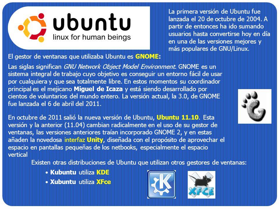 La primera versión de Ubuntu fue lanzada el 20 de octubre de 2004. A partir de entonces ha ido sumando usuarios hasta convertirse hoy en día en una de