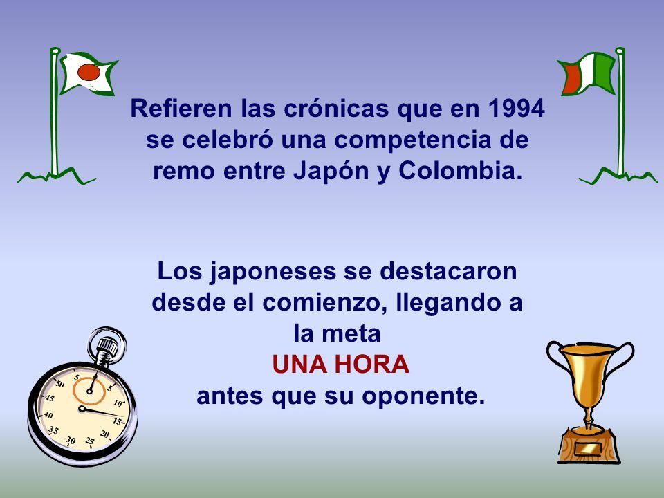 Los japoneses se destacaron desde el comienzo, llegando a la meta UNA HORA antes que su oponente.