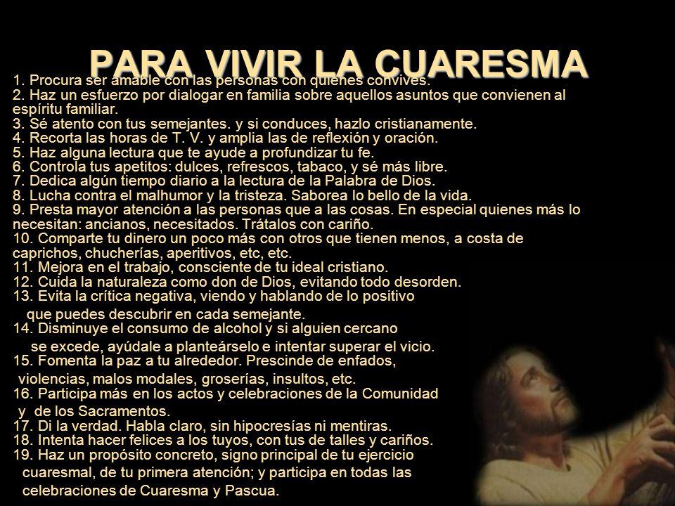 V. LA CUARESMA Y EL HOMBRE DE HOY El hombre de hoy es un poco autosuficiente y algo olvidado de Dios. Confía demasiado en la razón y, a veces se cierr